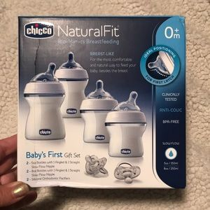 NWT Chicco Natural Fit Baby's First Gift Set